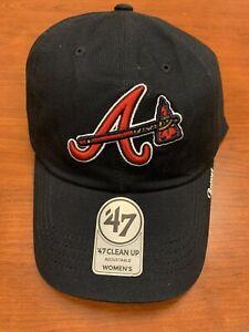 NEW W STICKER - Atlanta Braves '47 Brand Tomahawk Logo Adjustable Hat - MSRP $26