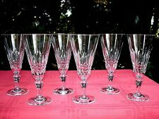 BACCARAT PICCADILLY 6 TALL FLUTED GLASSES 6 FLUTES A CHAMPAGNE CRISTAL TAILLÉ