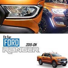 Front White LED Head Light Lamp Cover Ford Ranger T6 Mk2 Px XLT 15 16 Facelift