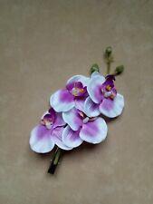 Pince à cheveux, barrette - orchidée Rose & Blanc  - accessoires de mariage