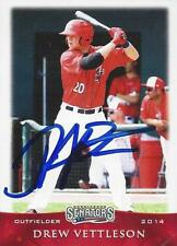 Drew Vettleson 2014 Harrisburg Senators Signed Card