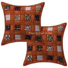 Ethnic Patchwork Pillow Cushion Cover Indian Home Decorative Pillowcase Throw