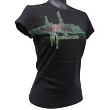 Oakley DANGEROUS Tee Womens Size S Small 8 Ladies Black Slim Fit Cotton T-Shirt