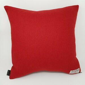 Winter RED Plain HARRIS TWEED Wool Cushion Cover handmade genuine all sizes