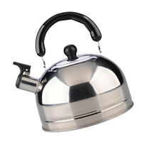Stainless Steel Whistling Tea Kettle Induction Stove Top Teapot Pot, Flat Base,