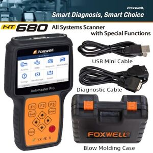 FOXWELL NT680 ALL SYSTEM UNIVERSAL SCANNER Oil Light Service Reset EPB FUNCTION