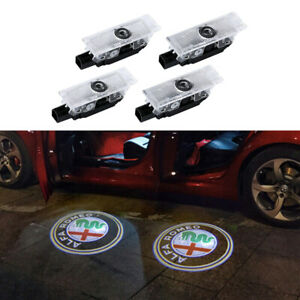 LED Car Door Projector Welcome Light Kit For Alfa Romeo Stelvio Giulia 2017-2018