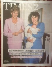Princess Diana 20th Anniversary Times 2 UK Newspaper My Friend Rosa Monckton