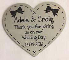 WEDDING FAVOURS BOW SENGRAVED ACRYLIC SAVE THE DATE FRIDGE MAGNET GIFT