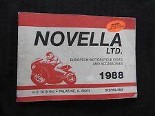 1988 NOVELLA MOTORCYCLE AFTER MARKET PARTS CATALOG MANUAL PALATINE IL