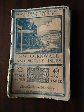 Ministry Of Transport Road Map SW Cornwall & Scilly Isles