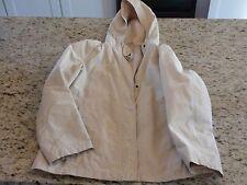 GAP Womens Beige Windbreaker Hooded Spring Jacket Fair Condition