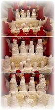 set 11x Gießformen für Schachfiguren Lewis mit Podest schach schachspiel