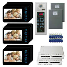 "Home Apartment Building Video Intercom Door Camera Monitor Key for Kit (12) 5"""