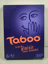 Taboo FRENCH Board Game Jeu FRANÇAIS Hasbro 2013 COMPLET!