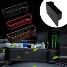 Car Seat Gap Slit Pocket Storage Catcher Box Phone Key Holder PU Leather Bag New