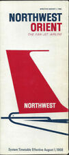 Northwest Orient Airlines system timetable 8/1/68 [0103]
