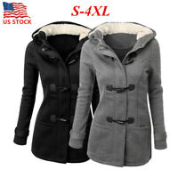Women's Winter Autumn Hoodie Coat Ladies Long Hooded Parka Jacket Plus Size US