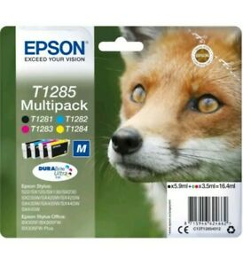 Epson T1285 Multipack DURABrite High Capacity Ink Cartridge - Brand New