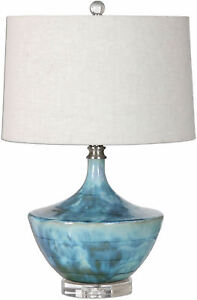 Chasida Blue Ceramic Table Lamp by Uttermost #27059-1