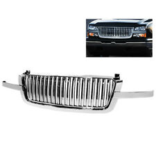 Chevy 03-06 Silverado Avalanche Chrome Front Hood Bumper Grille Verticle 3pcs