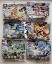 MIP SET 6 McDonald's 2001 LEGO BIONICLE Maku Matoro ONEPU Kongu SUPER MATORAN