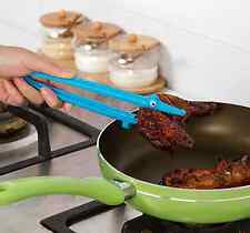 Silicone Cooking Kitchen Tongs Food BBQ Salad Bacon Steak Bread Clip Clamp ca