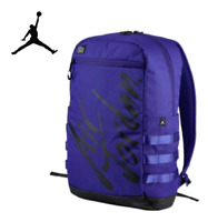 Nike Air Jordan Script Backpack Concord Purple Black School Travel Laptop Bag