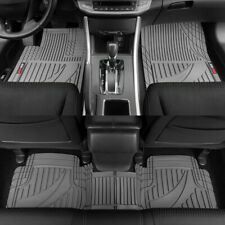 Motor Trend Trim-to-Fit All Weather Car Floor Mats & Full Row Runner 3PC Gray