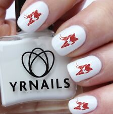 Nail WRAPS Nail Art Water Transfers Decals - Red Fox  - S051