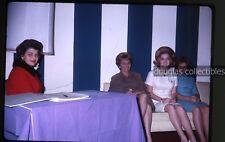 1960s  Kodachrome Photo slide Sweet 16 party sign in Teenage Girl Los Angeles CA