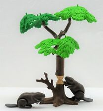 Beaver + Special Tree PLAYMOBIL to Forest Trapper Plant Western Jäger Mounty