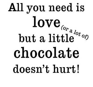 Unmounted Rubber Stamp - All you need is love and chocolate - 7044