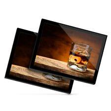 2 X Manteles Individuales De Cristal 20x25 Cm-vasos de beber whisky Whisky Alcohol #16211
