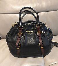 c281e0419f Prada Cervo Antik Black Satchel Bag  Excellent Condition