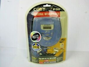 COBY Portable CD Player Plus Headphones MP-CD500 Personal MP3/CD Player RARE NEW
