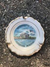 Washington D.C. Jefferson Memorial souvenir plate/ash tray 4in gold colored rim