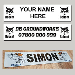 Bobcat Digger Excavator Bulldozer  Loader truck Name Plate Show - MTP Name Plate
