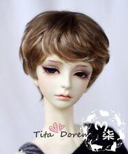 Bjd Doll Wig 1/3 8-9 Dal Pullip AOD DZ AE SD DOD LUTS Dollfie brown Toy Hair 2