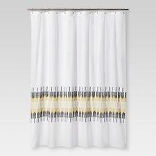 "NEW Shower Curtain Arrows White 72""x72"" - Threshold"