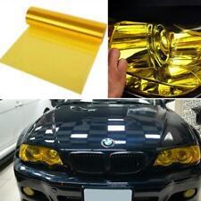 "Glossy Golden Yellow Tint Headlight Taillight Fog Lamp Vinyl Wrap Sheet 12''x48"""