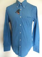 BEN SHERMAN Shirt Men's L/S Gingham Check Shirt B/D Plus Size Blue,Cerise,Brown