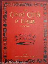 libro antico RACCOLTA CENTO CITTÀ D'ITALIA  1920 2° volume 51-100 CON CUSTODIA
