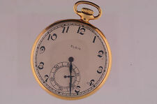 VINTAGE ELGIN 12 SIZE G.M. WHEELER POCKETWATCH MOVEMENT AND CASE GRADE 452