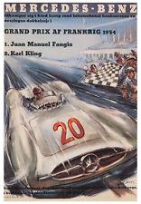 VINTAGE - MERCEDES BENZ,1954 by Liskars CAR RACE POSTER Auto Art Print 27.5x39.5