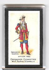 GRENADIER GUARDS OFFICERS UNIFORM IN 1660 FRIDGE MAGNET