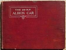 24 HP ALBION CAR Instructions Handbook Manual Pre 1930