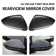 Pair Carbon Fiber   Mirror Cover for VW GOLF 7 MK7 GTI Jetta GLI 13-18 Hatchback