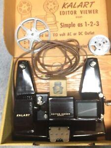 Vintage Kalart  Editor / Viewer for 8mm movie film - Original Box