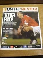22/01/2005 Manchester United v Aston Villa  . Thanks for viewing our item, if th